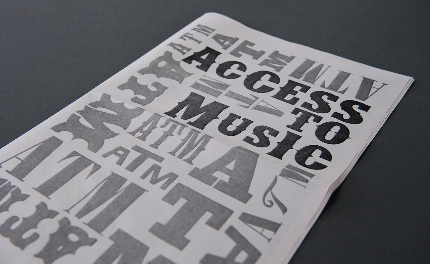 Access to Music Open Days Newspaper
